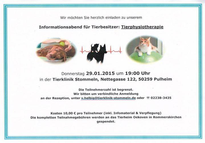 Infoabend Tierphysiotherapie